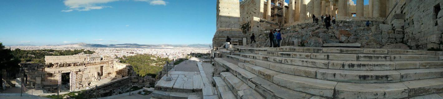 A panoramic view from the Acropolis hill